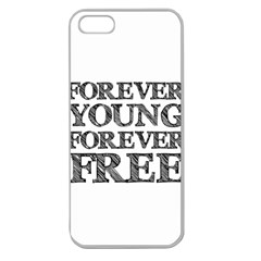 Forever Young Apple Seamless Iphone 5 Case (clear) by AlfredFoxArt