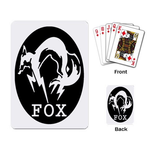 Fox Playing Cards By Maddi S    Playing Cards Single Design   Wwqfpn4haw6s   Www Artscow Com Back