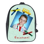Crayon and Bus School Backpack XL - School Bag (XL)
