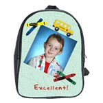 Crayons and Bus School Backpack Large - School Bag (Large)