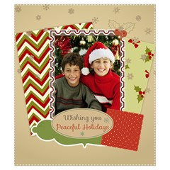 Merry Christmas By Merry Christmas   Drawstring Pouch (small)   Zswkr43wyy5a   Www Artscow Com Front