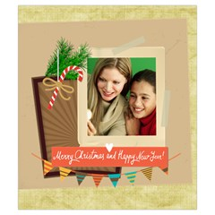 Merry Christmas By Merry Christmas   Drawstring Pouch (small)   0b1ewlr2b78p   Www Artscow Com Front