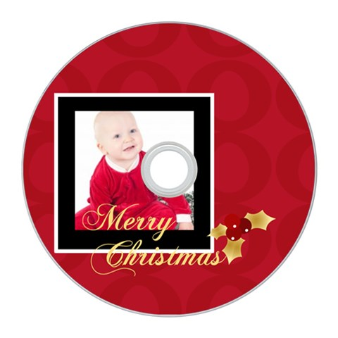 Merry Christmas By Clince   Cd Wall Clock   L7763a7ohq6k   Www Artscow Com Front
