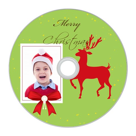 Merry Christmas By Clince   Cd Wall Clock   V0kc1ujvx77y   Www Artscow Com Front