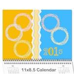 Colorful Calendar 2015 calendar - Wall Calendar 11  x 8.5  (12-Months)