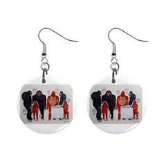 Yeren & Pengyou Mini Button Earrings