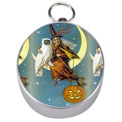Vintage Halloween Witch Silver Compass by EndlessVintage