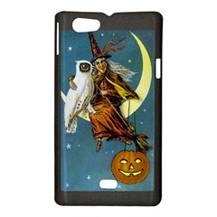 Vintage Halloween Witch Sony Xperia Miro Hardshell Case  by EndlessVintage