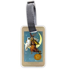 Vintage Halloween Witch Luggage Tag (One Side) by EndlessVintage