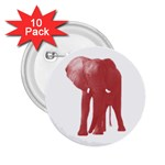 Pink Elephant 2.25  Button (10 pack)