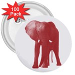 Pink Elephant 3  Button (100 pack)