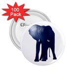 Blue Elephant 2.25  Button (100 pack)