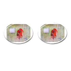 Neanderthal Love Cufflinks (oval) by creationtruth