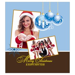 Merry Christmas By Clince   Drawstring Pouch (large)   26memzuvjvnf   Www Artscow Com Back