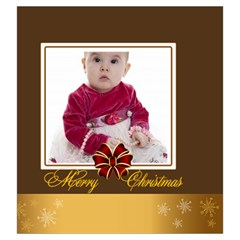 Merry Christmas By Clince   Drawstring Pouch (large)   Oxnti1sap5e3   Www Artscow Com Back