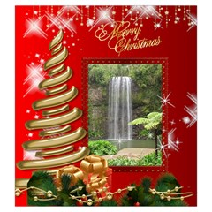 Merry Christmas Drawstring Pouch (large) By Deborah   Drawstring Pouch (large)   Qcr3l3ub2c3n   Www Artscow Com Front