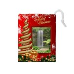 Merry Christmas Drawstring Pouch (medium)