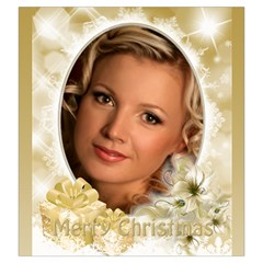 Gold Merry Christmas Drawstring Pouch (large) By Deborah   Drawstring Pouch (large)   Ywql9lulmfc0   Www Artscow Com Back
