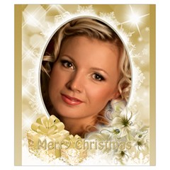 Gold Merry Christmas Drawstring Pouch (small) By Deborah   Drawstring Pouch (small)   Tw5lhmj2wm8p   Www Artscow Com Back