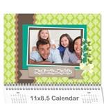 family - Wall Calendar 11  x 8.5  (12-Months)