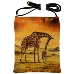 Giraffe Mother & Baby Shoulder Sling Bag by ArtByThree