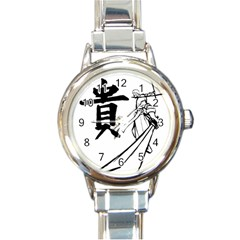 A Swordsman s Honor Round Italian Charm Watch by Viewtifuldrew