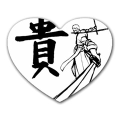 A Swordsman s Honor Mouse Pad (heart) by Viewtifuldrew