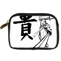 A Swordsman s Honor Digital Camera Leather Case by Viewtifuldrew