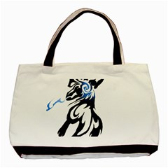 Alpha Dog Twin Sided Black Tote Bag by Viewtifuldrew