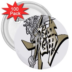 The Flying Dragon 3  Button (100 Pack) by Viewtifuldrew
