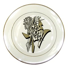 The Flying Dragon Porcelain Display Plate by Viewtifuldrew