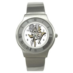 The Flying Dragon Stainless Steel Watch (slim) by Viewtifuldrew