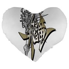 The Flying Dragon 19  Premium Heart Shape Cushion by Viewtifuldrew