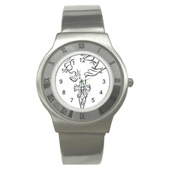 Maybe I m A Lion Stainless Steel Watch (slim) by Viewtifuldrew