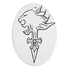 Maybe I m A Lion Oval Ornament (two Sides) by Viewtifuldrew