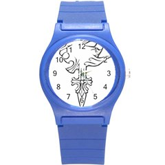 Maybe I m A Lion Plastic Sport Watch (small) by Viewtifuldrew
