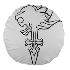 Maybe I m A Lion 18  Premium Round Cushion  by Viewtifuldrew