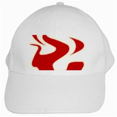 Fever Time White Baseball Cap by Viewtifuldrew