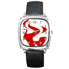 Fever Time Square Leather Watch by Viewtifuldrew