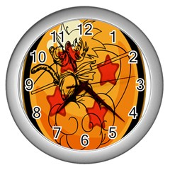 The Search Continues Wall Clock (silver) by Viewtifuldrew