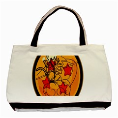 The Search Continues Twin Sided Black Tote Bag by Viewtifuldrew