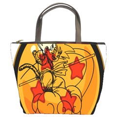 The Search Continues Bucket Handbag by Viewtifuldrew