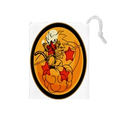 The Search Continues Drawstring Pouch (medium) by Viewtifuldrew