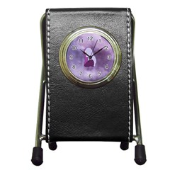 Profile Of Pain Stationery Holder Clock by FunWithFibro