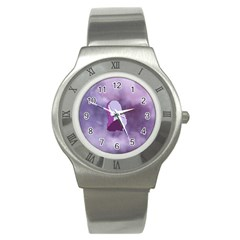 Profile Of Pain Stainless Steel Watch (slim) by FunWithFibro