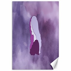 Profile Of Pain Canvas 12  X 18  (unframed) by FunWithFibro