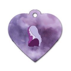 Profile Of Pain Dog Tag Heart (two Sided) by FunWithFibro
