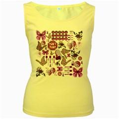 Fms Mash Up Women s Tank Top (yellow) by FunWithFibro