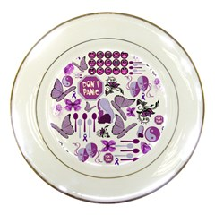 Fms Mash Up Porcelain Display Plate by FunWithFibro