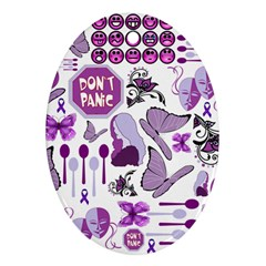 Fms Mash Up Oval Ornament (two Sides) by FunWithFibro